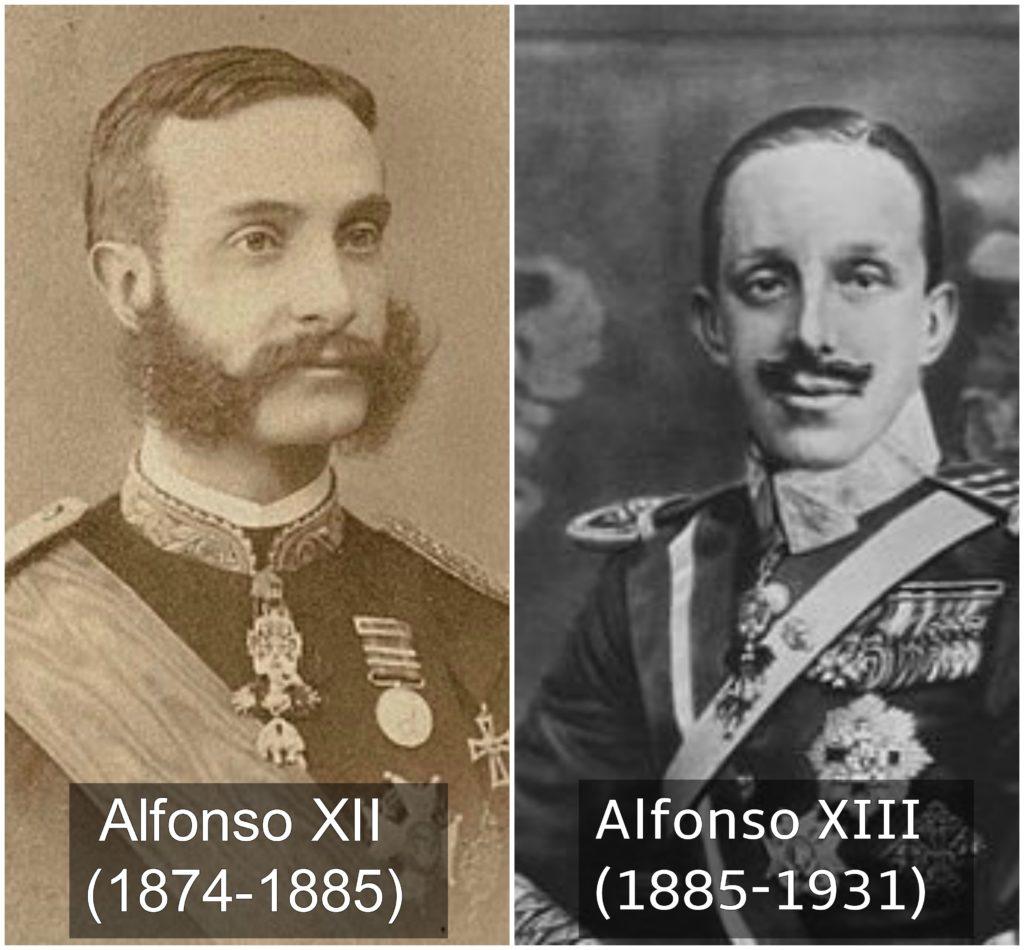 Alfonso XII y Alfonso XIII