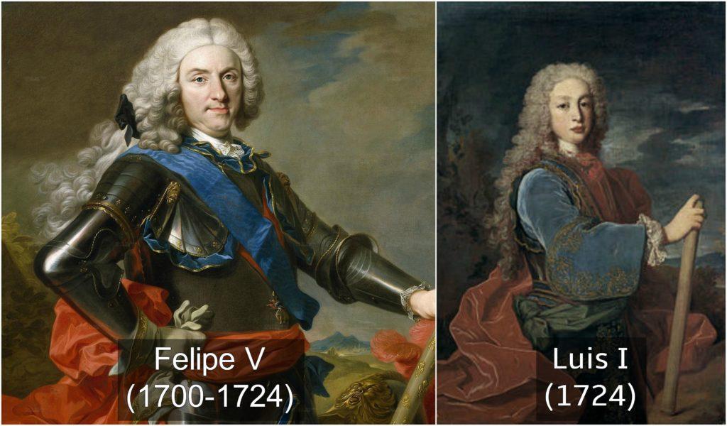 Felipe V y Luis I