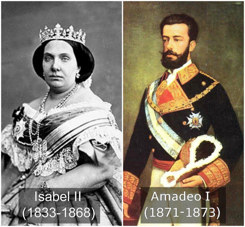 Isabel II y Amadeo I