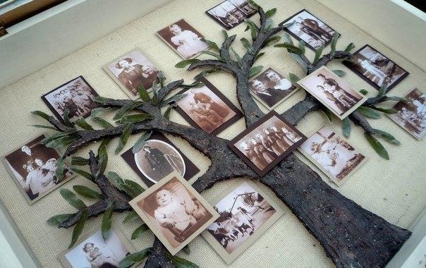 Árbol genealógico con fotografías