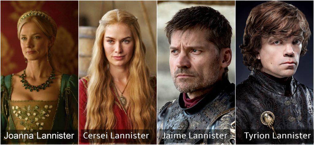 joanna cersei jaime y tyrion lannister juego de tronos
