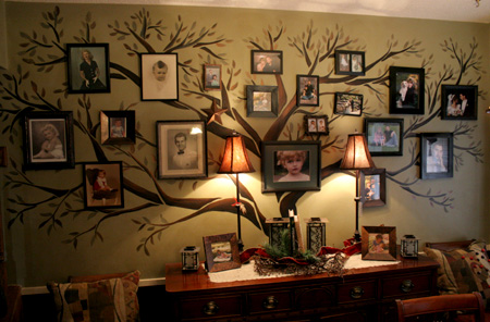 árbol genealógico original de pared