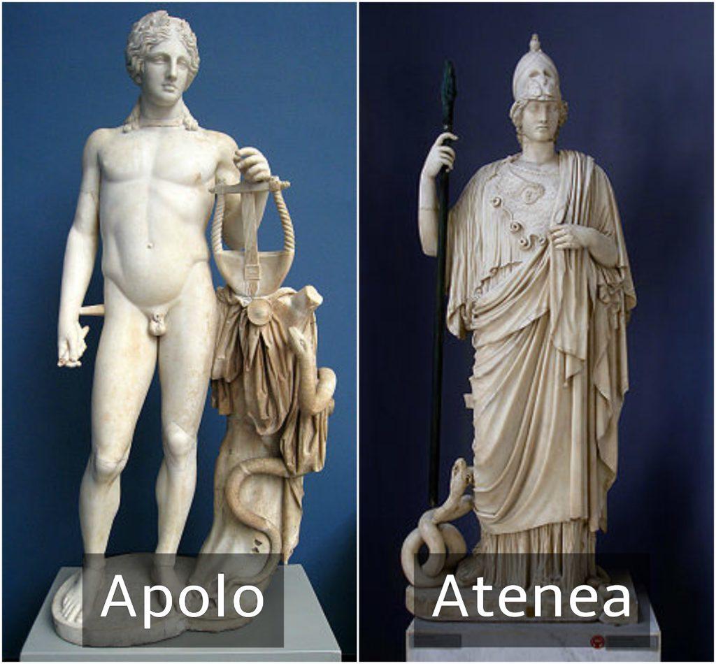 apolo y atenea dioses griegos