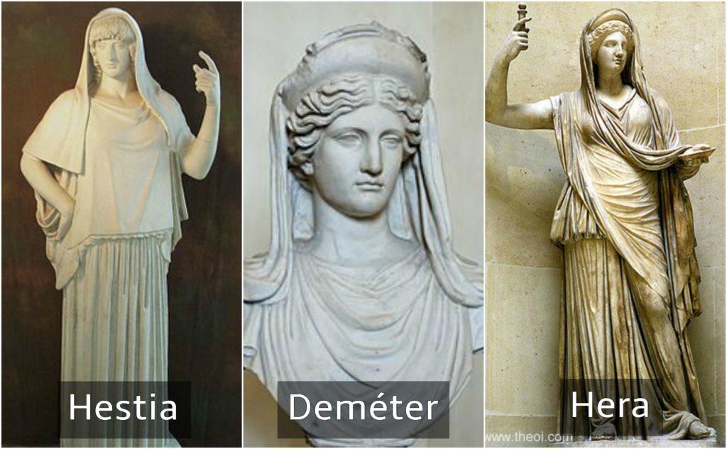 hestia deméter y hera dioses griegos
