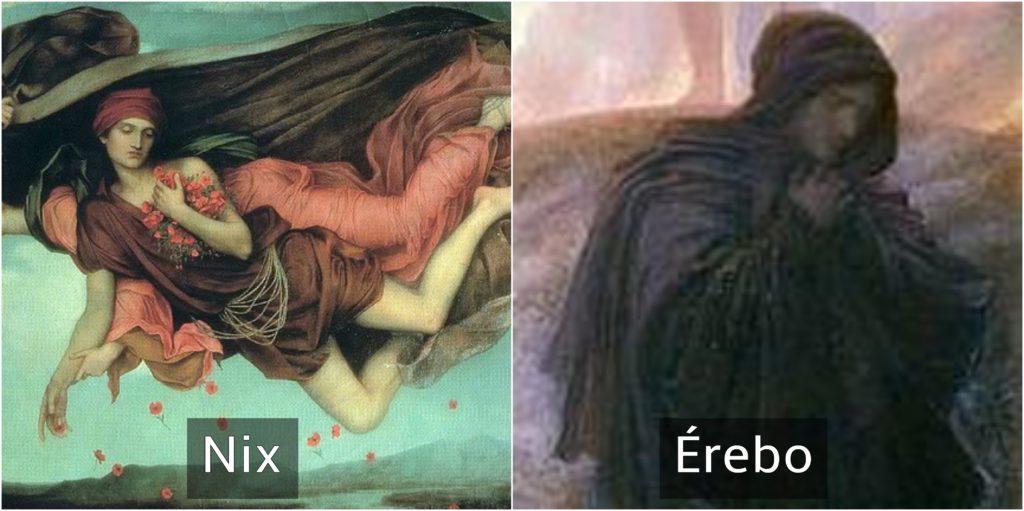 nix y érebo dioses griegos