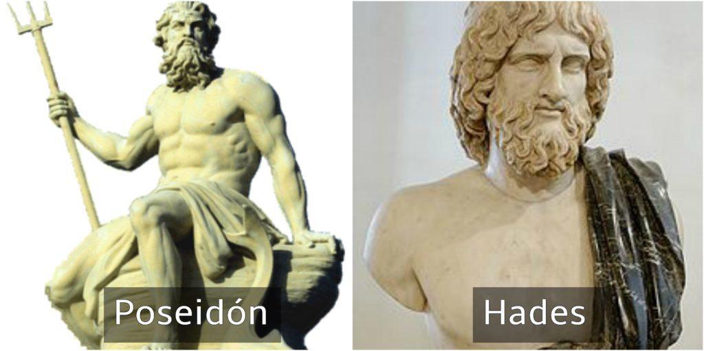 poseidón y hades dioses griegos