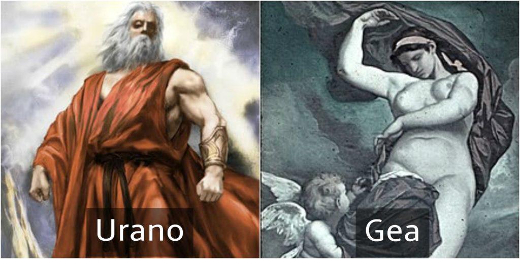 urano y gea dioses griegos