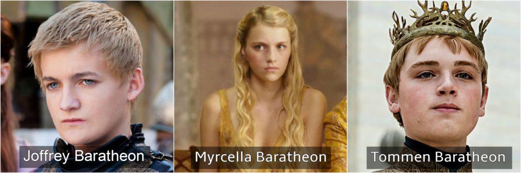 casa baratheon joffrey myrcella tommen