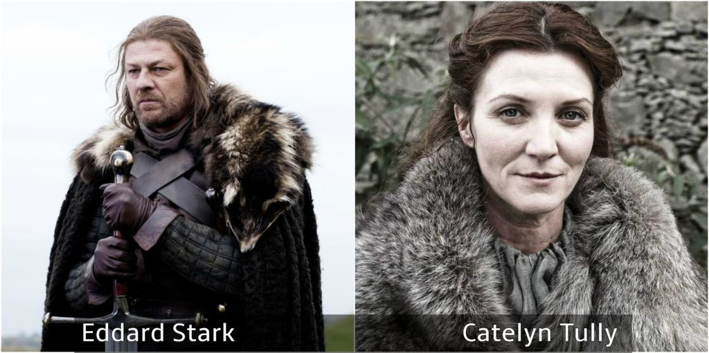 eddard stark y catelyn tully