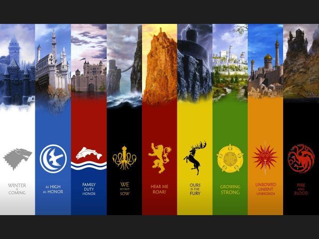 emblemas y lemas de las casas juegos de tronos
