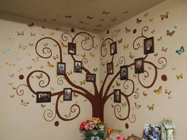 árbol genealógico original con portaretratos
