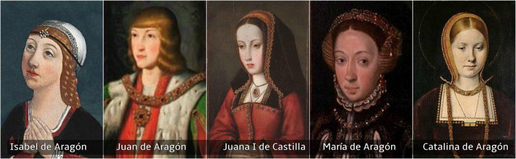 isabel juan juana I maría catalina hijos reyes católicos