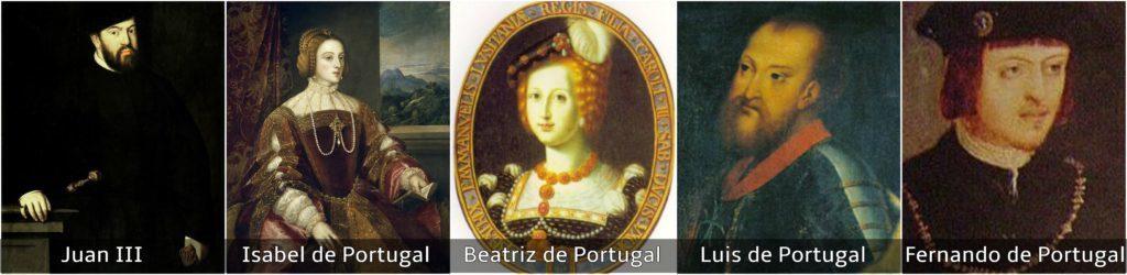 reyes católicos juan III isabel beatriz luis y fernando de portugal