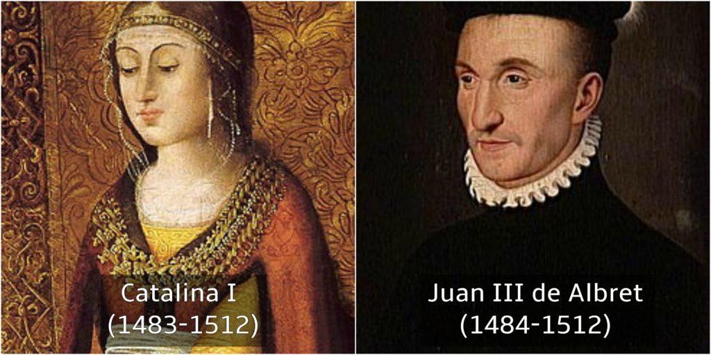 catalina I y Juan III de albret reyes de españa