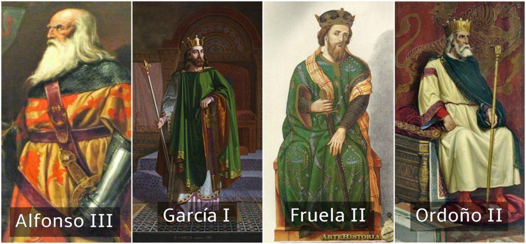 reyes de españa alfonso III garcía I fruela II y ordoño II