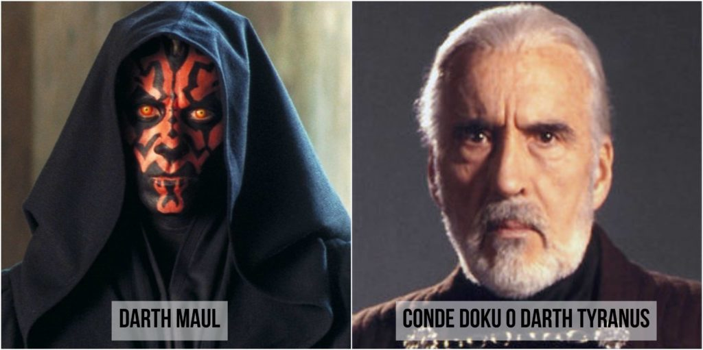 star wars darth maul y conde doku o darth tyranus