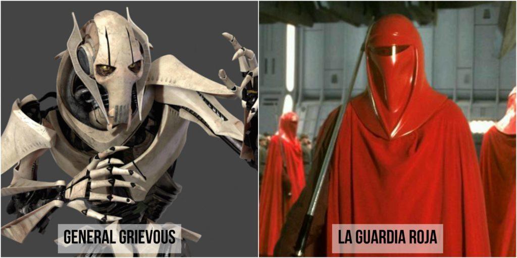 star wars capitán grievous la guardia roja