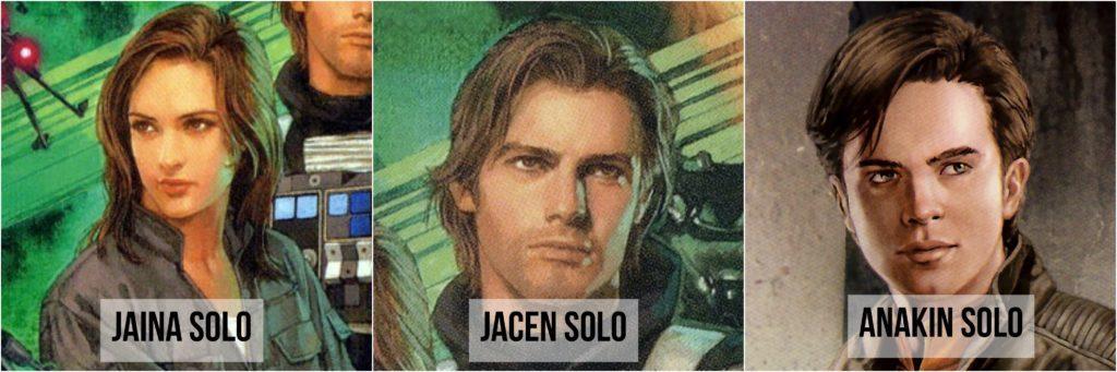 star wars cómics jaina jacen y anakin solo