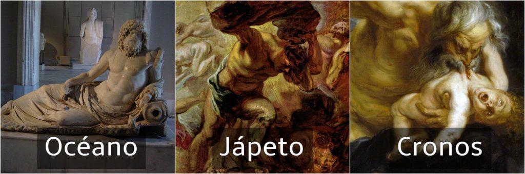 océano jápeto y cronos dioses griegos