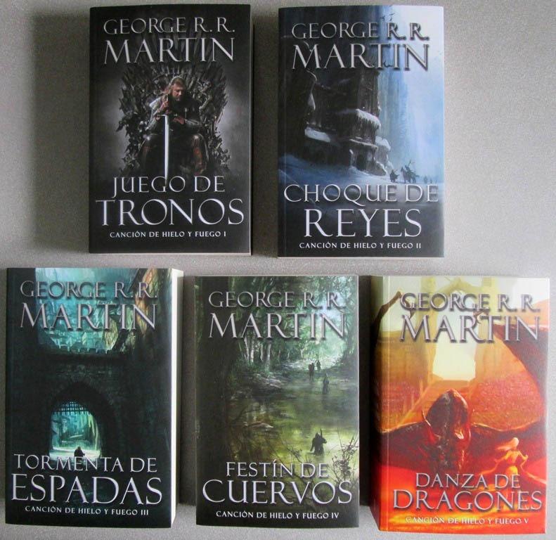 libros de la serie juego de tronos