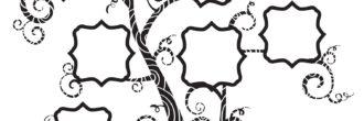 imprime plantilla árbol genealógico para rellenar