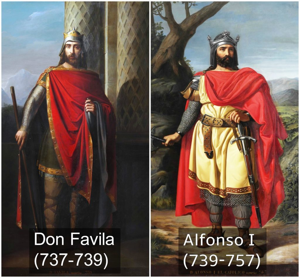 don favila y alfonso I reyes de españa